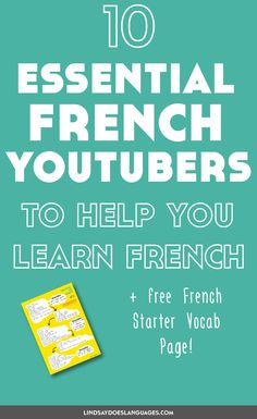 """Looking for some French YouTubers to make the most of the time you spend on YouTube? Here's 10 fantastique channels + a free French starter vocab guide! >>"""" /><meta property="""