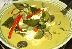 Thai Green Curry - This weeks Travel Pinspiration on the blog (Thai Food Dishes)
