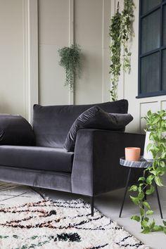 Epsom Grey Velvet Snuggler Velvet Carpet, Grey Velvet Sofa, Red Sofa, Living Room