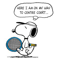 Snoopy - The World Famous Tennis Champion at Wimbledon (smaller)