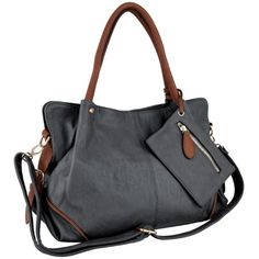LALANIE Oversized Slochy Soft Shopper Hobo Bag Office Tote Handbag Purse Shoulder Bag w/Dcor Zipper Pouch for only $35.50 You save: $33.40 (48%) + Free Shipping