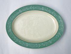 Royal Doulton Large Serving Platter, Cascade Design. 1950s china, English Dinner ware Set by gardenfullofVintage on Etsy