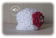 cappellino fiore - baby hat