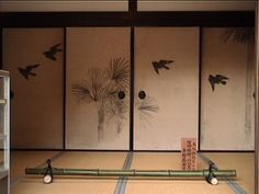 fusuma with paintings