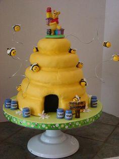 Winnie the Pooh cake -- my hero!