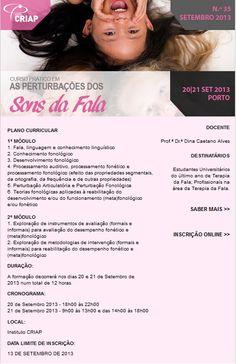 Curso Prático em Perturbações dos Sons da Fala | PORTO |  Mais informações : http://www.institutocriap.com