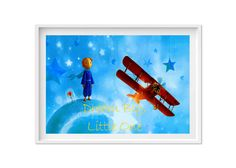 Little Prince Print nursery printable art baby gift stars quote poster dream big little one wall art le petit prince blue instant download by S4StarSbySiSSy on Etsy https://www.etsy.com/ca/listing/465826504/little-prince-print-nursery-printable