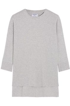 FRAME - Le Boxy Cotton, Silk And Cashmere-blend Sweater - Light gray -