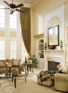 .Love drapries.   Make a room look so warm