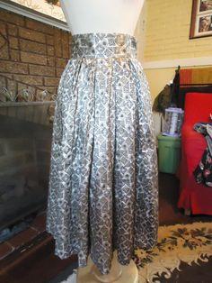 Vintage Handmade Satin Pleated Skirt by RabbitsRun on Etsy