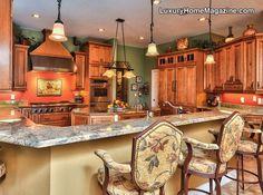 LHM Tampa Bay - Beautiful Summer Kitchen #Kitchen #InteriorDesign #LuxuryHomes