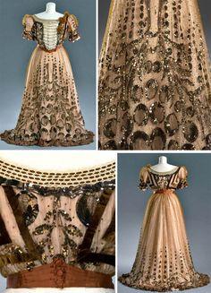 Evening dress, Buckley & Nunn Ltd., Melbourne, Australia (manufacturer &…