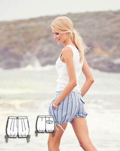 Bloomer Shorts 07/2015 #sewing #sewingpattern #diy #burdastyle