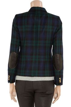Crew plaid blazer with leather elbow patches! (Love this jacket) Cozy Fashion, Pretty Outfits, Pretty Clothes, Elbow Patches, Plaid Blazer, Geek Chic, Autumn Winter Fashion, Fall Fashion, J Crew