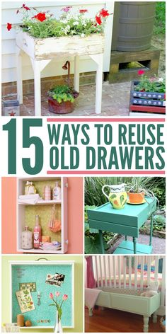 Beautiful ways to transform an old dresser drawer into a unique (and useful) piece of furniture.