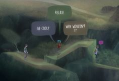 Image result for oxenfree speech bubble