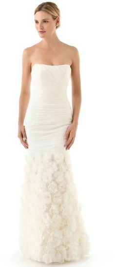 Theia Strapless Rosette Gown on shopstyle.com