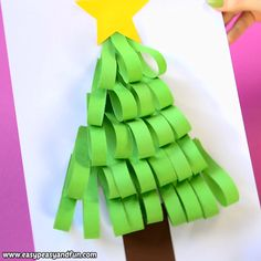 Paper Strips Christmas Tree Craft for Kids Ready for Christmas crafting? We are and we are sharing another fun crafting idea with you – let's make a paper strips Christmas tree craft! Must do Crafts and Activities for Kids Preschool Christmas, Christmas Crafts For Kids, Xmas Crafts, Fun Crafts, Christmas Diy, Diy And Crafts, Arts And Crafts, Paper Crafts, Decor Crafts