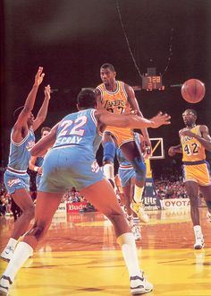 "The star of LA Laker ""showtime"" Earvin ""Magic"" Johnson"