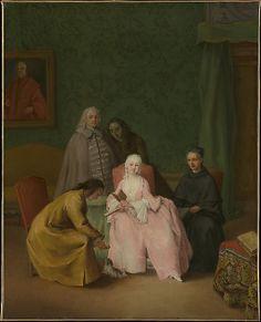 The Visit  Pietro Longhi (Pietro Falca) (Italian, Venice 1701–1785 Venice)  Date: 1746