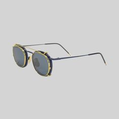 Thom Browne glasses with sunglasses abow 18  carat gold on the frame  Thombrowne