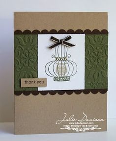 Julie's Stamping Spot -- Stampin' Up! Project Ideas Posted Daily: Last Chance Favorites: Four Aviary Cards