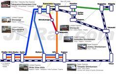 How to access to Kanazawa and Toyama from Tokyo, Osaka, Kyoto, Nagoya and Niigata. | JPRail.com - Japan Rail Pass and rail travel in Japan complete guide