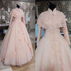 Gorgeous High Neck Long Sleeves Luxury Lace Wedding Dresses, BG51468