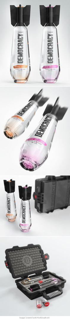 Packaging de produits - Bouteille de Vodka Democracy, ogive concept (Design By Studio Designers: Arthur Schreiber, Galya Akhmetzyanova Maxim Kulikov) Cool Packaging, Beverage Packaging, Bottle Packaging, Brand Packaging, Design Packaging, Product Packaging, Label Design, Branding Design, Identity Branding