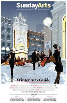 Matthieu Forichon, Illustrations du livre. Winter Art Guide, Boston Globe.