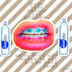 Tip swish with warm water when your braces/retainer is hurting to relive so. - health and beauty Braces Food, Braces Tips, Dental Braces, Teeth Braces, Braces Humor, Cute Braces, Kids Braces, Braces Pain, Braces Problems