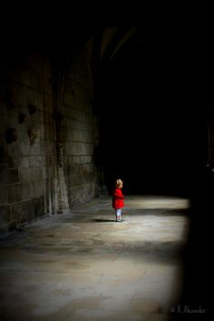 Cahors, France I August 14: This little red ridding hood was lost in the cloisters in the Cathédrale Saint-Étienne de Cahors
