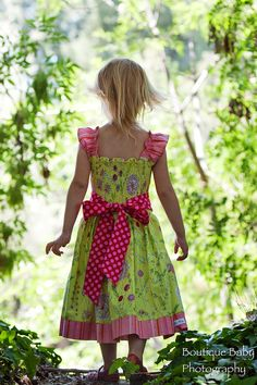 Party dress Summer Garden sizes 1t 2t 3t 4t 5 6 by HotFudge, $50.00