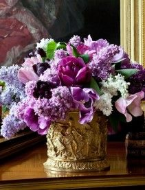 "Never enough purple flowers...  from ""Flowers"" (Random House)"
