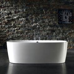 Vrijstaand bad badkamer, vrijstaand bad slaapkamer, landelijk vrijstaand bad, massief vrijstaand bad, ovaal, pootjes