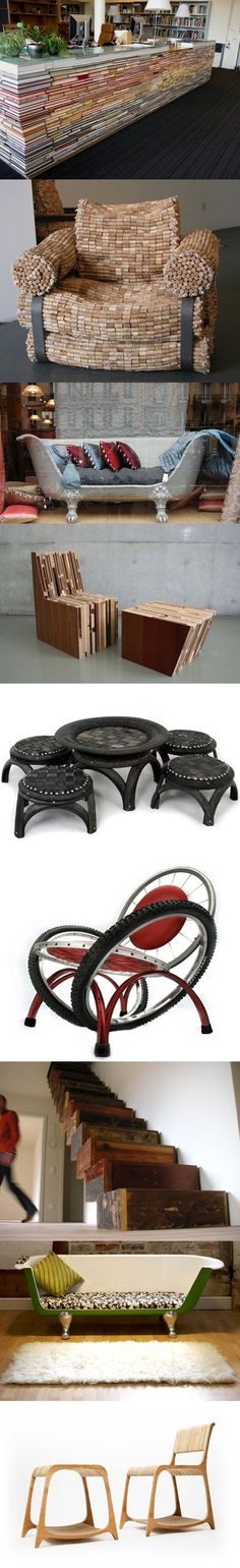 Earth Day Recycled Furniture Designs These are proof that I have not gone too far!!!