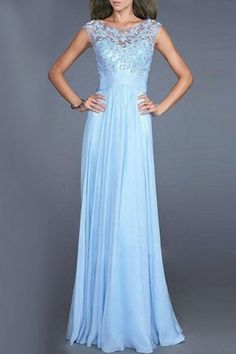 Graceful Hollow Out Lace Spliced Sleeveless Solid Color Maxi Dress For Women