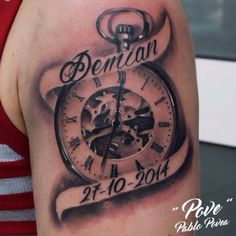 Names Tattoos For Men, Daddy Tattoos, Father Tattoos, Time Tattoos, Foot Tattoos, Forearm Tattoos, Body Art Tattoos, Sleeve Tattoos, Dad Daughter Tattoo