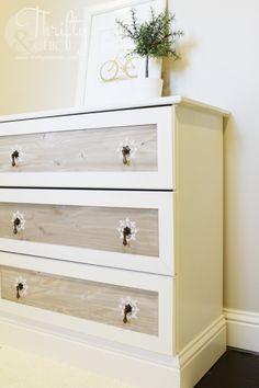ikea tarva 3-drawer chest hack moulding pulls stencil