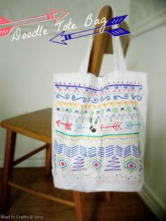 TOTES ADORBS:  Simple Doodle Tote Bag - Mad in Crafts