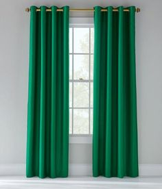 Exclusive Fabrics Emerald Green Faux Silk Taffeta Curtain