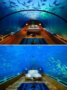 sleep underwater in maldives