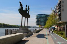 Danube, the river that divides Bratislava's Old Town from Petržalka part, offers beautiful options for taking a walk, enjoying the view on the castle or our River Park, Danube River, Famous Places, Bratislava, Homeland, Old Town, Castle, Country, City
