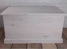 Vintage, solid pine, farmhouse, country home, shabby chic style blanket box hand…