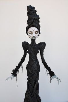 OOAK hand sculpted gothic horror voodoo by chrisandrescreations