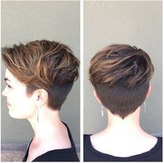 Layered, Pixie Haircut with Thick Hair - Women Short Hairstyle Ideas
