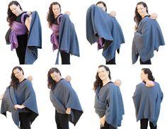 Babywearing Maternity Coat Fleece Poncho Baby Wearing by BabyEtte