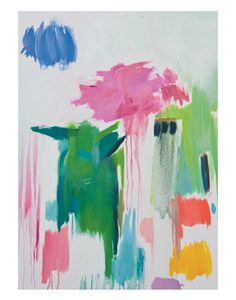 This abstract piece was inspired by the act of blooming. In this series, Roman sought to explore the nature of colors, their behavior, and our attraction to them.
