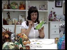 Декор фигурок из папье-маше в технике декопатч, улитка - YouTube