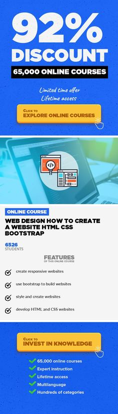 Web Design How to Create a Website HTML CSS Bootstrap Web Development, Development #onlinecourses #learning #learningathomeclassroomComplete guide to learning how to build an HTML CSS website that is fully Responsive and ready for mobile devices Learn how to build a modern fully responsive website from scratch! Step by step training including everything you need to create a website from scratch....